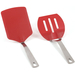 Norpro Red Nylon and Stainless Steel 2 Piece Turner Set