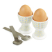 Typhoon 4 Piece Porcelain Egg Cup and Stainless Steel Spoon Set