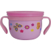 Eco Vessel Gobble N Go Pink with Butterflies Stainless Steel 16 Ounce Snack Cup with 2 Silicone Lids