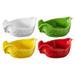 Revol Happy Cuisine Assorted Color Porcelain 7 Ounce Poultry Dish, Set of 4