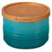Le Creuset Caribbean Stoneware 12 Ounce Canister with Wooden Lid