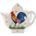 Grant Howard Ceramic Country Rooster Tea Bag Holder Caddy