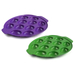 Zak Designs Grape and Green Sprinkles 12 Egg Serving Tray, Set of 2
