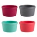 Trudeau Assorted Color Silicone Ramekin, Set of 4