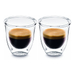 DeLonghi Double Walled Thermo Espresso Glass, Set of 2