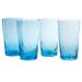 Artland Ripple Turquoise 19 Ounce Highball Glass