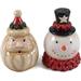 Vintage Look Santa/Snowman Salt & Pepper Set