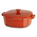 KitchenAid KCLI60CRAU Streamline Autumn Glimmer Cast Iron 6-Quart Casserole Dish with Lid