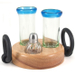 Hand Made Blue Moon Tequila Shooter Set 4 Piece