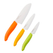 Kyocera Revolution 3 Piece Ceramic Chef's Knife Set with Citrus Handles