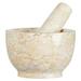Cilio Champagne Marble Mortar & Pestle