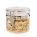 Oggi Acrylic 38 Ounce Canister with Airtight Clamp Lid