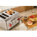 Wolf Gourmet Stainless Steel 4-Slice Toaster with Red Knobs