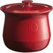 Emile Henry Flame Burgundy Ceramic 4.2 Quart Soup Pot