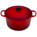 Le Creuset Cerise Enameled Cast Iron 5.25 Quart Round Deep Dutch Oven