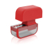 Microplane Red Stainless Steel Garlic Mincer