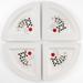 Ceramic Round Serving Dish Poker Royal Flush Set 4 Piece
