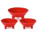 Chantal True Red 3 Piece 12 and 6 Ounce Molecajete Bowl Set