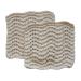 Toockies Organic Cotton Knit Wave Scrub Cloth, Set of 2
