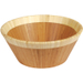 Island Bamboo Large Caramelized Bamboo Salad Bowl With Natural Rim