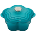 Le Creuset Caribbean Enameled Cast Iron 2.25 Quart Flower Cocotte with Stainless Steel Knob