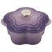 Le Creuset Provence Enameled Cast Iron 2.25 Quart Flower Cocotte with Stainless Steel Knob