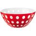 Guzzini Le Murrine Red and White 9.8 Inch Bowl