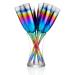Artland Rainbow Glass 7 Piece Toasting Flute Set