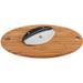 Shun Classic Mezzaluna Knife and Oval Bamboo Cutting Board