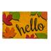 Entryways Hello Fall Non-Slip Coir Doormat