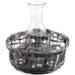 Willow Basket 8 Piece Milk Bottle and Glass Set