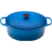 Le Creuset Signature Marseille Blue Enameled Cast Iron Oval French Oven, 9.5 Quart