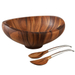 Nambe Wood 4 Quart Butterfly Salad Bowl with Servers