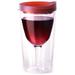 Vino2Go Merlot Acrylic Insulated Wine Tumbler with Slide Lid, 10 Ounce
