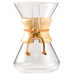 Chemex 5 Cup Hand Blown Glass Coffee Maker with Wood Collar and Tie, 25 Ounce