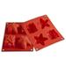 Silikomart Baby Line Red Silicone Happy Christmas Baking Mold