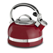 KitchenAid KTEN20SBER Empire Red 2 Quart Kettle with Full Stainless Steel Handle and Trim Band