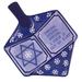 Our Name Is Mud Blue Dreidel Shaped Serving Platter