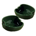 Home Gourmet Collection Ceramic Green Bell Pepper Vegetable Dipping Bowls, Set of 2
