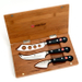 Wusthof Classic 3 Piece Stainless Steel Cheese Knife Set and Bamboo Box