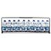 Amalfi Blue & White Spice Bottles With Rack 11 Piece Set
