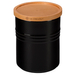 Le Creuset Black Stoneware 2.5 Quart Canister with Wooden Lid