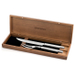 Wusthof 2 Piece Stainless Steel Carving Set in Walnut Chest