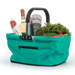 RSVP Turquoise Collapsible 17 x 11 Inch Market Basket