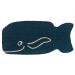Entryways Friendly Whale Non-Slip Coir 14 x 30 Inch Doormat