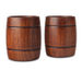 Final Touch Wood 12 Ounce Barrel Tumbler, Set of 2