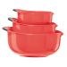 Oggi Red Non-Slip 3 Piece Oval Mixing Bowl Set