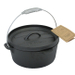 Old Mountain Pre-Seasoned Cast Iron 4 Quart Camp Oven with Flanged Lid