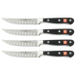 Wusthof Classic 4 Piece Hollow Edge Steak Knife Set, 4.5 Inch