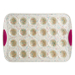 Trudeau Fuchsia 24 Count Mini Muffin Pan with Confetti Silicone 11 Inch Jar Spatula